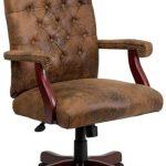 Flash Furniture Massaging Black Leather Office Chair802-BRN-GG