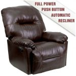 Flash Furniture Brown Leather Chaise Power ReclinerAM-CP9350-9075-GG