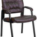 Flash Furniture Burgundy Leather Guest w/ Black FrameBT-1404-BN-GG