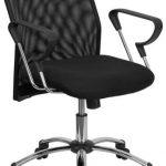 Flash Furniture Mid-Back Black Office Chair w/Chrome BaseBT-215-GG