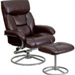 Flash Furniture Brown Lether Reclinr & Otoman w/BaseBT-70230-BRN-CIR-GG