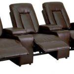 Flash Furniture Brown 3-Seat Home Theater ReclinerBT-70259-3-BRN-GG