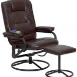 Flash Furniture Brown Leather Recliner and OttomanBT-703-MASS-BN-GG