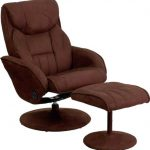 Flash Furniture Brown Recliner and OttomanBT-7895-MIC-PINPOINT-GG