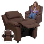 Flash Furniture Padded Brown Kids ReclinerBT-7985-KID-BRN-LEA-GG