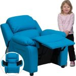 Flash Furniture Paded Turquoise Vinyl Kid ReclinerBT-7985-KID-TURQ-GG