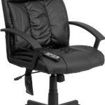 Flash Furniture HiBack Massaging Black Leather Ofice ChairBT-9578P-GG