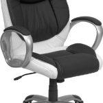 Flash Furniture Mid-Back Black Glove Vinyl Office ChairCH-CX0217M-GG