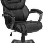 Flash Furniture HiBack Black Leather Ofice Chair w/PadingGO-901-BK-GG