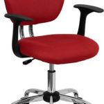 Flash Furniture Mid-Back Red Mesh Task ChairH-2376-F-RED-ARMS-GG