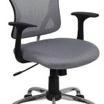 Flash Furniture Mid-Back Gray Mesh Office ChairH-8369F-GY-GG