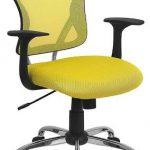 Flash Furniture Mid-Back Yellow Mesh Office ChairH-8369F-YEL-GG