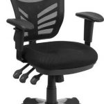 Flash Furniture Mid-Back Black Mesh Chair w/Padded MeshSeatHL-0001-GG
