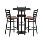 Flash Furniture 30″ Round Black Laminate Table SetMD-0013-GG