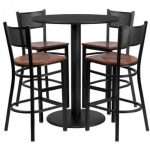 Flash Furniture 36″ Round Black Laminate Table SetMD-0018-GG