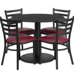 Flash Furniture 36″ Round Black Laminate Table SetRSRB1005-GG
