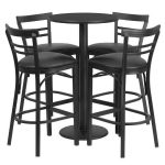 Flash Furniture 24″ Round Black Laminate Table SetRSRB1033-GG