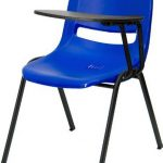 Flash Furniture Blue Ergonomic Shell Chair w/ ArmRUT-EO1-BL-LTAB-GG
