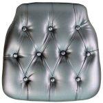 Flash Furniture Silver Vinyl Chiavari Chair CushionSZ-TUFT-SIL-GG