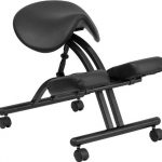 Flash Furniture Mobile Ergonomic Kneeling Chair in BlackWL-1421-GG