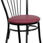 Flash Furniture HERCULES Black Fan Back Metal ChairXU-698B-BGV-GG