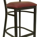 "Flash Furniture Black ""X"" Bck Metal Bar StoolXU-6F8BXBK-BAR-BURV-GG"