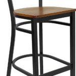 "Flash Furniture Black ""X""Back Metal Bar StoolXU-6F8BXBK-BAR-CHYW-GG"