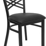 "Flash Furniture Black ""X"" Back Metal ChairXU-6FOBXBK-BLKV-GG"