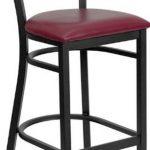 Flash Furniture Black Grid Back Bar StoolXU-DG-60116-GRD-BAR-BURV-GG