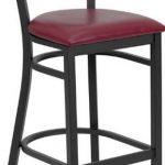 Flash Furniture Black Circle Bck Bar StoolXU-DG-60120-CIR-BAR-BURV-GG