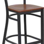 Flash Furniture Black Restaurant Bar StoolXU-DG-60120-CIR-BAR-CHYW-GG
