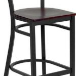 Flash Furniture Black Metal Bar StoolXU-DG-60120-CIR-BAR-MAHW-GG