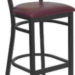 Flash Furniture Black Restaurant Bar StoolXU-DG-6F6B-CIR-BAR-BURV-GG