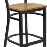 Flash Furniture Black Restaurant Bar StoolXU-DG-6F6B-CIR-BAR-NATW-GG