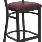 Flash Furniture Black Restaurant Bar StoolXU-DG-6H3B-SLAT-BAR-BURV-GG
