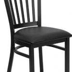 Flash Furniture Black Vertical Back Metal ChairXU-DG-6Q2B-VRT-BLKV-GG