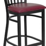 Flash Furniture Black Vert Bk Metal StoolXU-DG-6R6B-VRT-BAR-BURV-GG