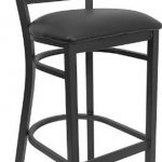 Flash Furniture Black Metal Restaurant StoolXU-DG697BLAD-BAR-BLKV-GG