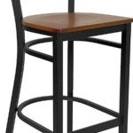 Flash Furniture Black Metal Restaurant StoolXU-DG697BLAD-BAR-CHYW-GG