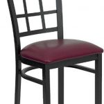Flash Furniture Black Window Back Metal ChairXU-DG6Q3BWIN-BURV-GG