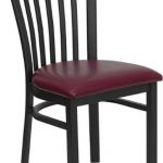 Flash Furniture Black School House Bk Metal ChairXU-DG6Q4BSCH-BURV-GG