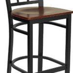 Flash Furniture Black Window Back Metal StoolXU-DG6R7BWIN-BAR-CHYW-GG