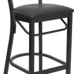 Flash Furniture Black Metal Restaurant StoolXU-DG6R9BLAD-BAR-BLKV-GG