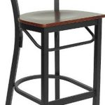 Flash Furniture Black Metal Restaurant StoolXU-DG6R9BLAD-BAR-CHYW-GG