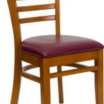 Flash Furniture Cherry Vert Slat Back ChairXU-DGW0005LAD-CHY-BURV-GG