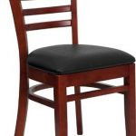 Flash Furniture Mahogany Wooden ChairXU-DGW0005LAD-MAH-BLKV-GG