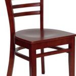 Flash Furniture Mahogany Finished Wooden ChairXU-DGW0005LAD-MAH-GG