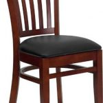 Flash Furniture Mahogany Wooden ChairXU-DGW0008VRT-MAH-BLKV-GG
