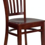 Flash Furniture Mahogany Wooden Restaurant ChairXU-DGW0008VRT-MAH-GG