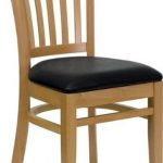 Flash Furniture Natural Wooden ChairXU-DGW0008VRT-NAT-BLKV-GG